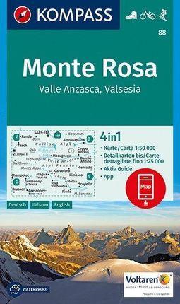 Monte Rosa, Valle Anzasca, Valsesia 1 : 50 000