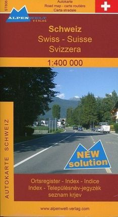 Schweiz 1 : 400 000 Autokarte