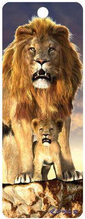 """3D Knygų skirtukas """"Liūtas"""""""