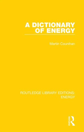 A Dictionary of Energy