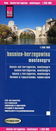 Reise Know-How Landkarte Bosnien-Herzegowina, Montenegro 1 : 350.000