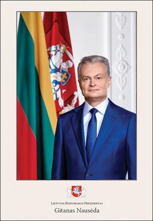Prezidento Gitano Nausėdos portretas. Plakatas