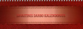 Savaitinis darbo kalendorius (bordo)