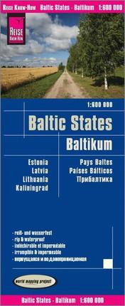 Reise Know-How Landkarte Baltikum / Baltic States (1:600.000) : Estland, Lettland, Litauen und Region Kaliningrad