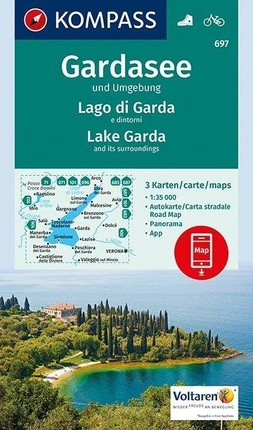 Gardasee und Umgebung - Lake Garda and its surroundings - Lago di Garda e dintorni 1:35 000