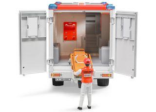 BRUDER greitosios pagalbos automobilis su figūrėle, 02536