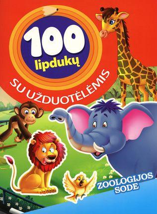Zoologijos sode. 100 lipdukų su užduotėlėmis