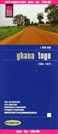 Reise Know-How Landkarte Ghana, Togo 1 : 600.000