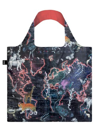 "LOQI pirkinių krepšys ""KRISTJANA S WILLIAMS INTERIORS World Map Bag"""