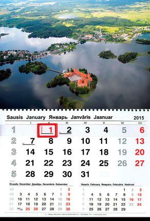 2015 metų sieninis kalendorius. Trakai