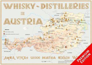 Whisky Distilleries Austria -  Poster 60x42cm - Premium Edition