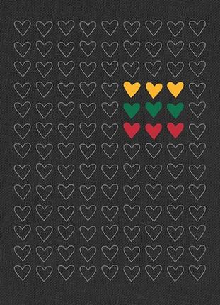 """Užrašinė """"Trispalvės širdys"""". B37"""