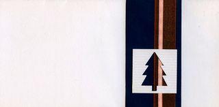 Kalėdinis rankų darbo atvirukas su voku (baltas su eglute)