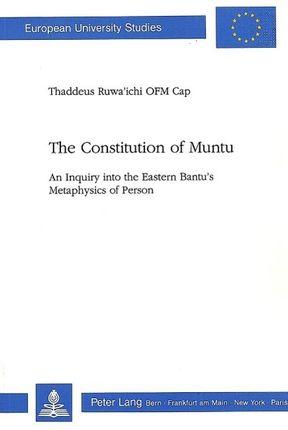 The Constitution of Muntu