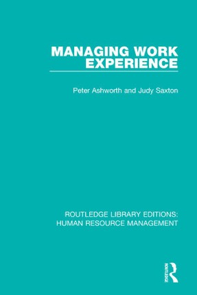 Managing Work Experience