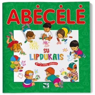 Abėcėlė su lipdukais: 4-5 metų vaikams