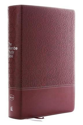 NKJV, Wiersbe Study Bible, Leathersoft, Burgundy, Red Letter, Comfort Print