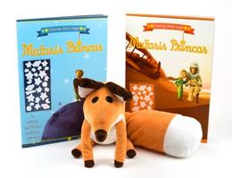 Žaisk ir mokykis su Mažuoju Princu ir Lape! Stebuklinga UŽDUOČIŲ KNYGELĖ 1 + UŽDUOČIŲ KNYGELĖ 2 (su tamsoje švytinčiais lipdukais!) + pliušinė Mažojo princo LAPĖ