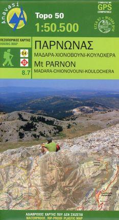 Topografische Bergwanderkarte 8.7 Mount Parnon 1 : 50 000