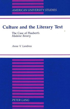 Culture and the Literary Text