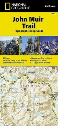 John Muir Trail Topographic Map Guide