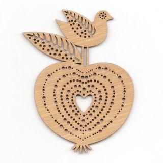 EntoDesign Rūtusėliai. Paukštis su obuoliu