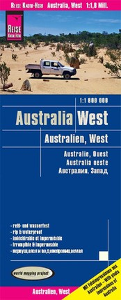 Reise Know-How Landkarte Australien, West 1 : 1.800.000