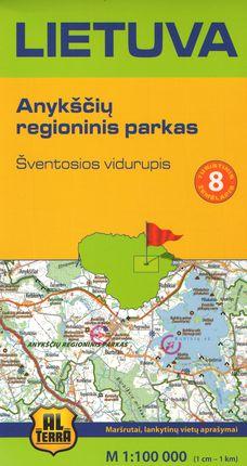 Lietuva. Anykščių regioninis parkas.Turistinis žemėlapis Nr. 8