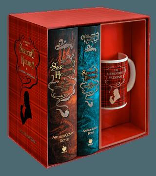 Didysis ŠERLOKO HOLMSO IR DAKTARO VATSONO NUOTYKIŲ rinkinys: pilnas romanų ir apsakymų rinkinys kolekcinėje dėžutėje + puodelis su užrašu