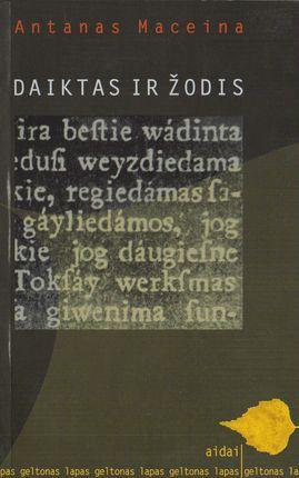 Daiktas ir žodis (knyga su defektu)