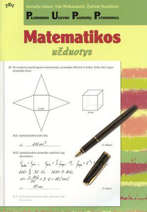 Pagrindinio ugdymo pasiekimų patikrinimas: matematikos užduotys