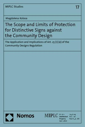 The Scope and Limits of Protection for Distinctive Signs against the Community Design