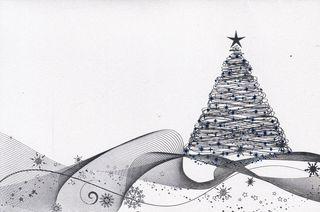 Kalėdinis rankų darbo atvirukas su voku