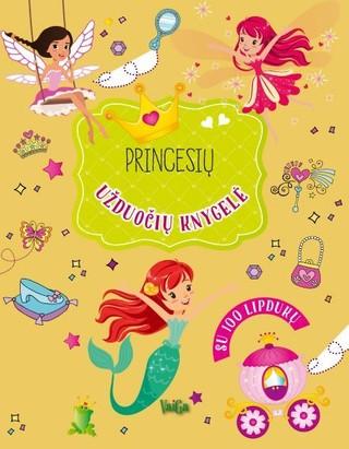 Princesių užduočių knygelė: su 100 lipdukų