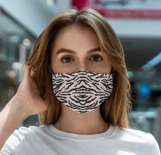 Daugkartinė medvilninė veido kaukė – Zebra
