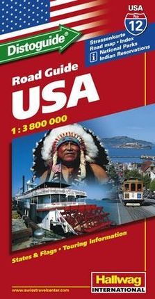 Hallwag USA Road Guide 12 Straßenkarte 1 : 3 800 000