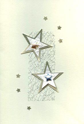 Kalėdinis rankų darbo atvirukas su voku (baltas su snaigėm)