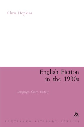 English Fiction in the 1930s