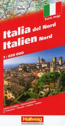 Italien Nord Strassenkarte 1 : 650 000