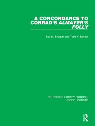 A Concordance to Conrad's Almayer's Folly