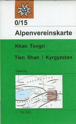 DAV Alpenvereinskarte 0/15 Khan Tengri, Tien Shan / Kyrgyzstan 1 : 100 000