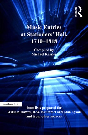 Music Entries at Stationers' Hall, 1710-1818