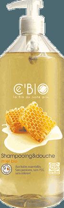 CEBIO Dušo ir plaukų šampūnas 2in1 su medumi, 1000ml