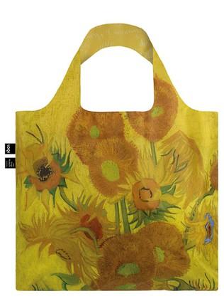 "LOQI dvipusis pirkinių krepšys ""VINCENT VAN GOGH Sunflowers Duo Bag"""