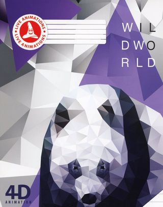 Atgyjantis 4D sąsiuvinis Panda (linijomis, 12 l.)