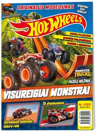 Hot Wheels. Greiti ratai. Žurnalas. Nr 1 2021