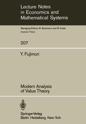 Modern Analysis of Value Theory