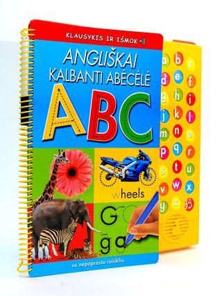 Angliškai kalbanti abėcėlė su nepaprastu rašikliu. Klausykis ir išmok