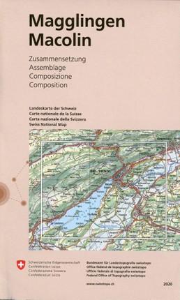 Swisstopo 1 : 25 000 Magglingen/Macolin