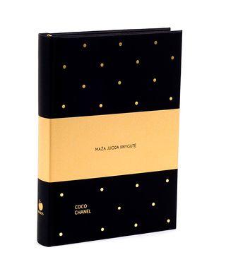MAŽA JUODA KNYGUTĖ: originali knygutė su Coco Chanel citatomis - tobulas formatas kiekvienos stilingos moters rankinei, daug vietos užrašams (visų laikų NR.1 perkamiausia Knygos.lt!)